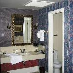 Bathroom area in Room 205