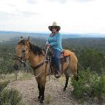 """On top of the world with my favorite horse, """"Buck"""""""