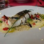 Dos de cabillaud, risotto de boulghour aux herbes et beurre blanc