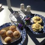 Ebelskiver & Eggs benedict - yummy!