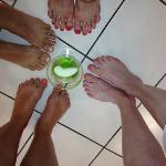 appletini and Pedicures :)