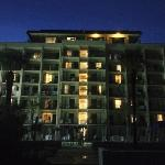 Beachside picture of Comfort Inn & Suites at night.