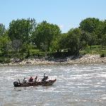Fishing at base of dam
