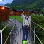 Walk to cabins from main hotel / pub
