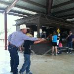 Roping lesson for the kids