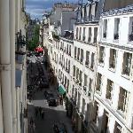 The view of Rue St. Louis from our room