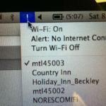 No wi-fi.