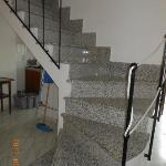 Staircase to 2nd floor - very slippery!!