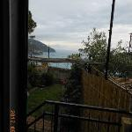 View of garden and sea from Kitchen Window