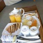 El desayuno incluido
