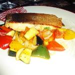 Grilled Salmon with Rattatouile