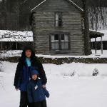 Snow...by the blacksmith cabin