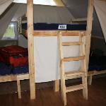 Otentik Tent interior--sleeping platforms