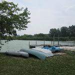 Complimentary canoeing and kayaking on 10 acre pond