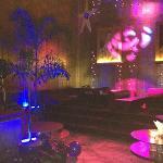 Rootz interior, beach club party setting