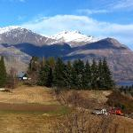 View of Remarkables from Villa