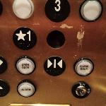 missing button in an elevator