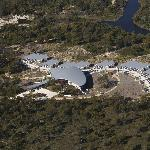 Saffire as seen from the air