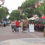 Church Street Marketplace is 4-5 blocks long with no traffic.