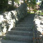steps from beach