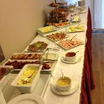 Breakfast Buffet - enjoyable by vegetarians and meat eaters is included.