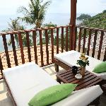 Balcony from Superior Bungalow with Sea View