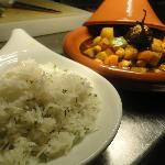 Tagine of aubergine (main course)