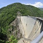 Sicht auf den Damm