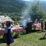 Barbecue à l'arrivée d'une randonnée