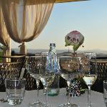 Panoramablick beim Abendessen