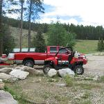 Lots of parking space at Antelope Cabin for trailers