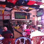Watching the England game...