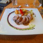 Varkenshaasje met fois gras saus