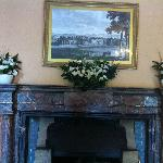 Reception area - fireplace is perfect for flowers