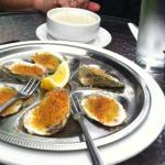 New England Clam Chowder and Pesto Oysters at Winslow's Tavern