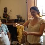 Making pasta,