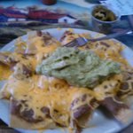 Bean, cheese, guacamole nachos.  Excellent!