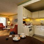One Bedroom Suite Kitchen/Dining Area