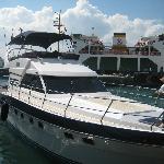 "The yacht, ""Zoe"""
