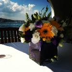 Flowers for our breakfast table
