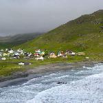 village during tour of Sandoy
