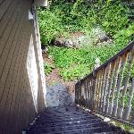 Stairs leading to our room