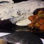 Churrasco with gorgonzola sauce
