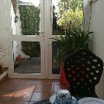 door to the garden