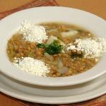 Lentil Soup with Feta Cheese