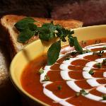 Tomato soup with Chevre