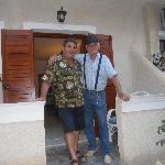 Dimitris, the owner, with Alfredo.