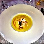 Brentwood Corn Chowder Soup with Prawns