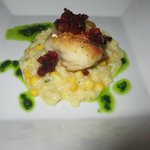 Seared Monk Fish & Creamed Corn