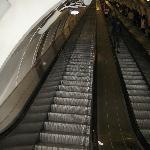 Escalator at the Náměstí Míru metro station (looking up)